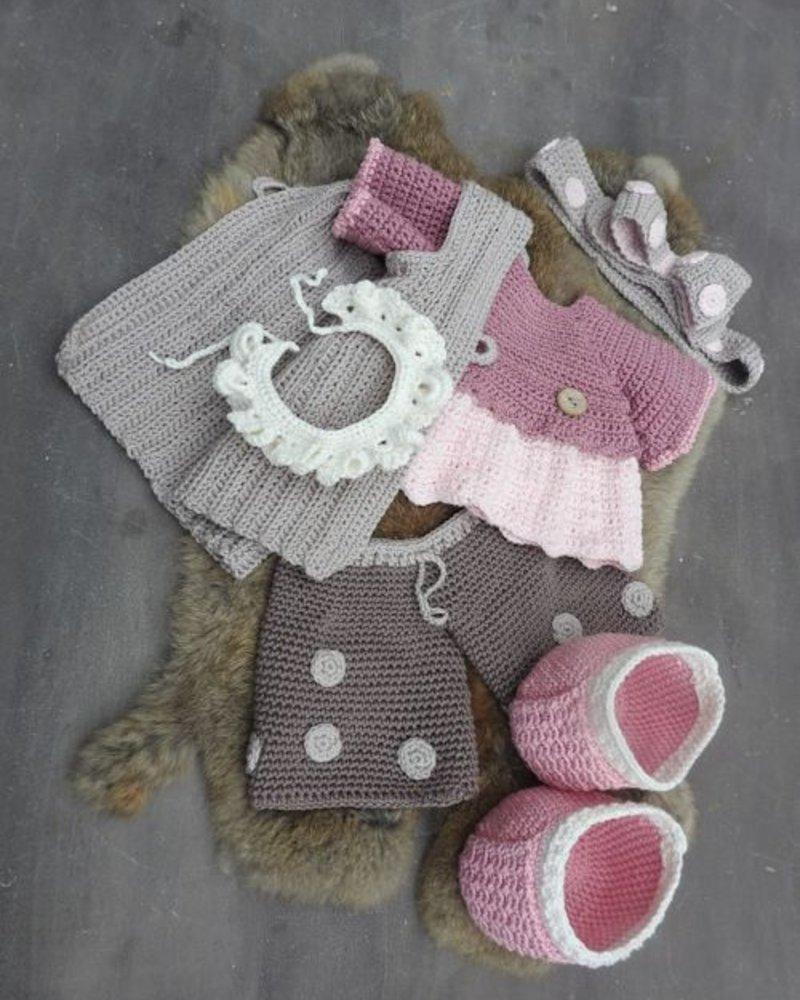 Funny XXL - Funny Bunny Kledingset Dots pastel (enkel kleding, geen bunny!)