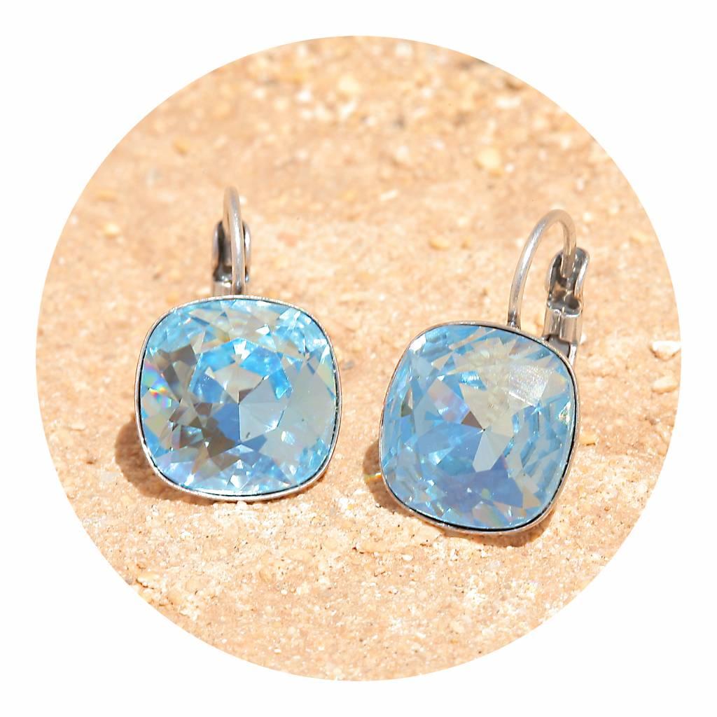 artjany Ohrhänger mit crystals in aquamarine