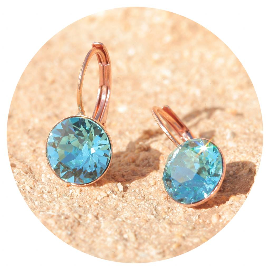artjany Ohrhänger mit crystals in light turquoise