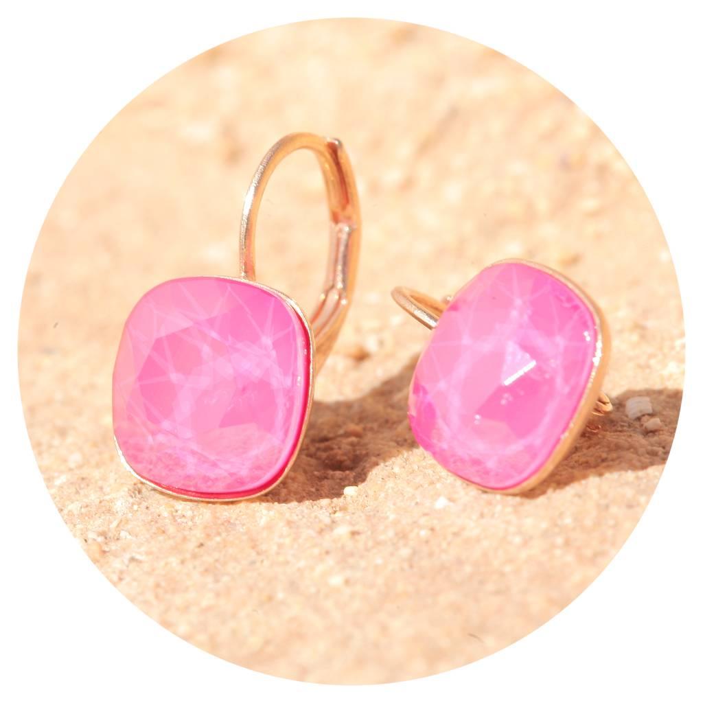 artjany Ohrhänger mit crystals in peony pink