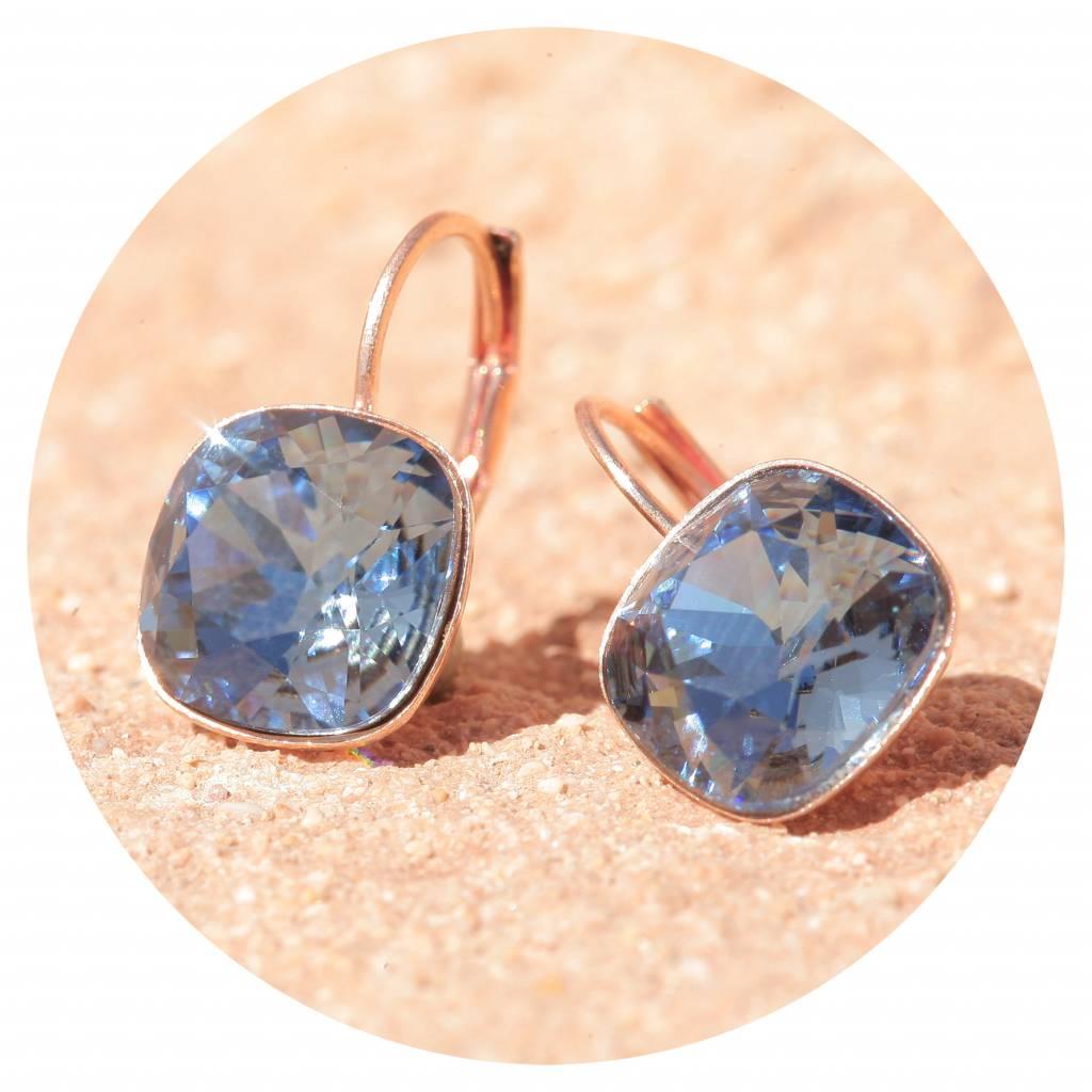 artjany Ohrhänger mit crystals in denim blue