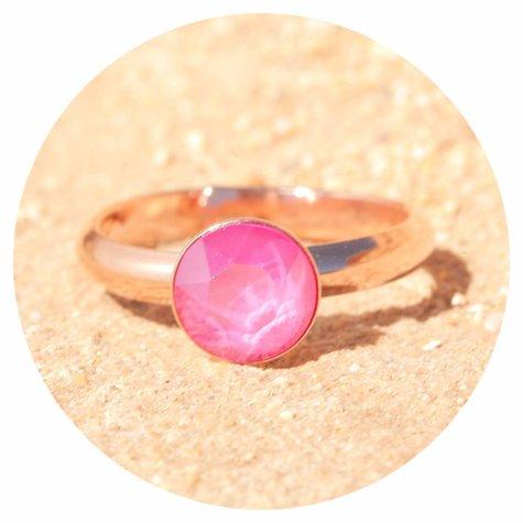 artjany Ring mit einem crystal in peony pink