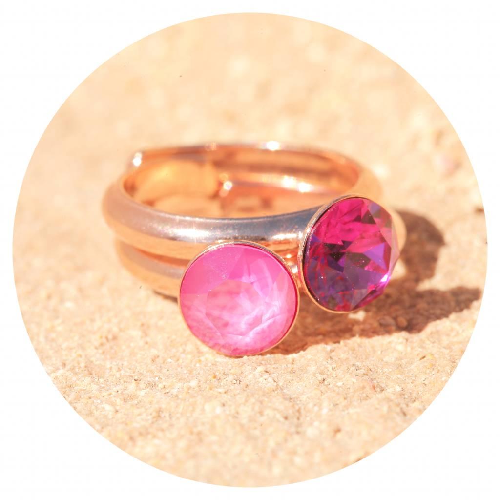artjany Ring mit einem crystal in fuchsia