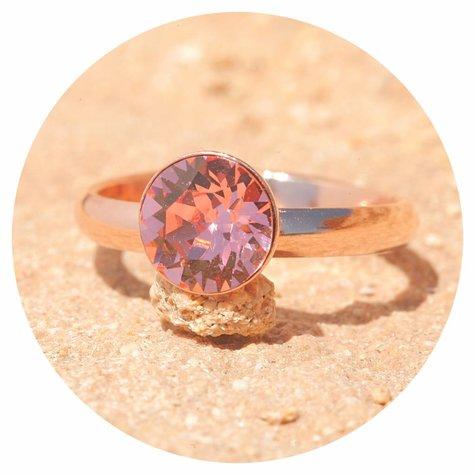 artjany Ring mit einem crystal in rose peach