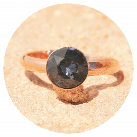 artjany Ring mit einem crystal in silvernight