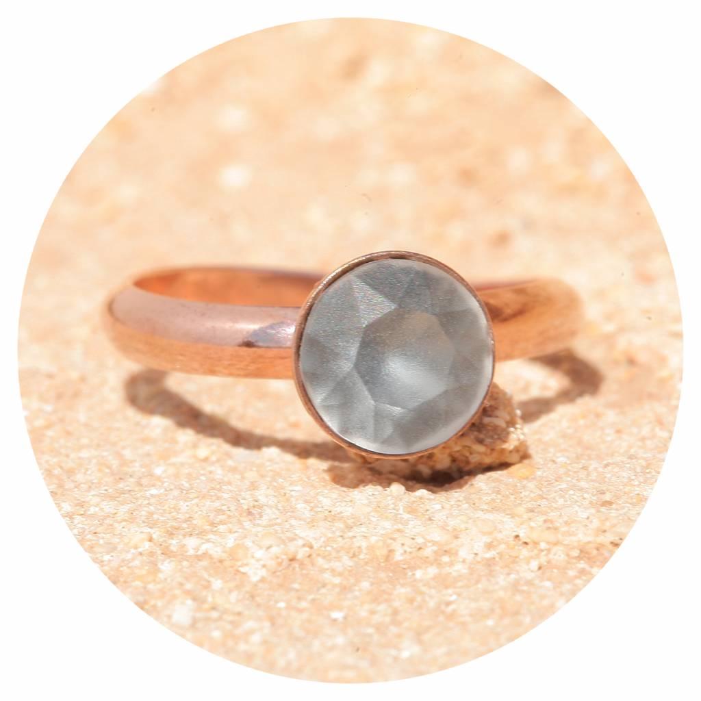 artjany Ring mit einem crystal in silvernight matt