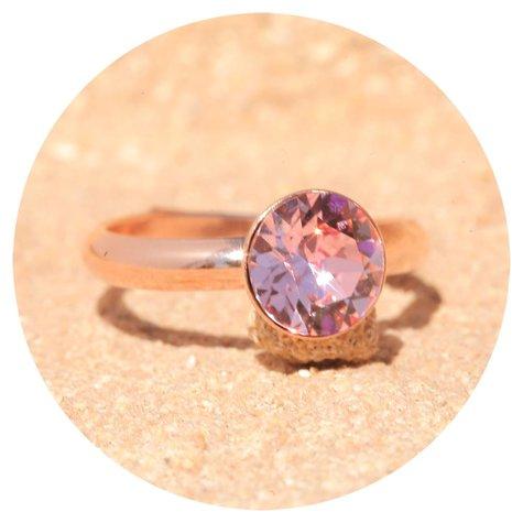 artjany Ring mit einem crystal in light rose