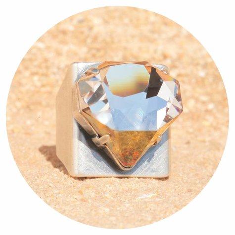 artjany Ring mit einem crystal designed by Chris Bangle in crystal copper