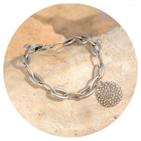 artjany Mandala Armband in silber patina