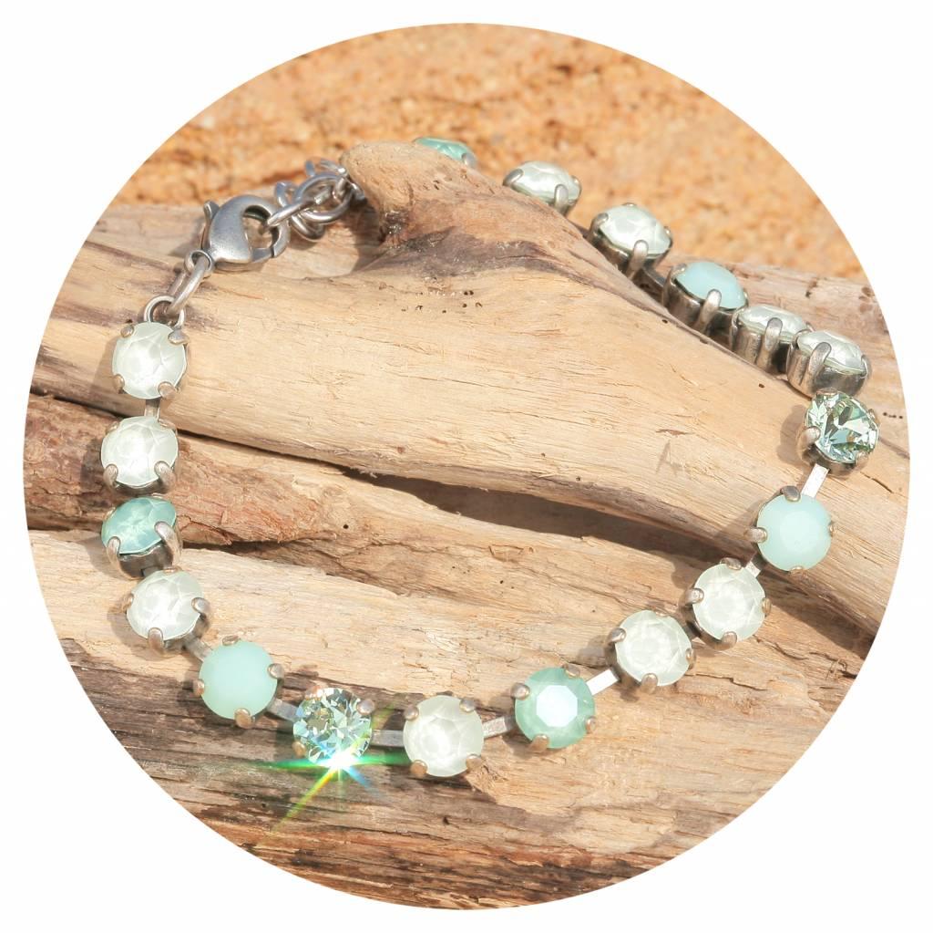 artjany Armband mit crystals inpuder green mix