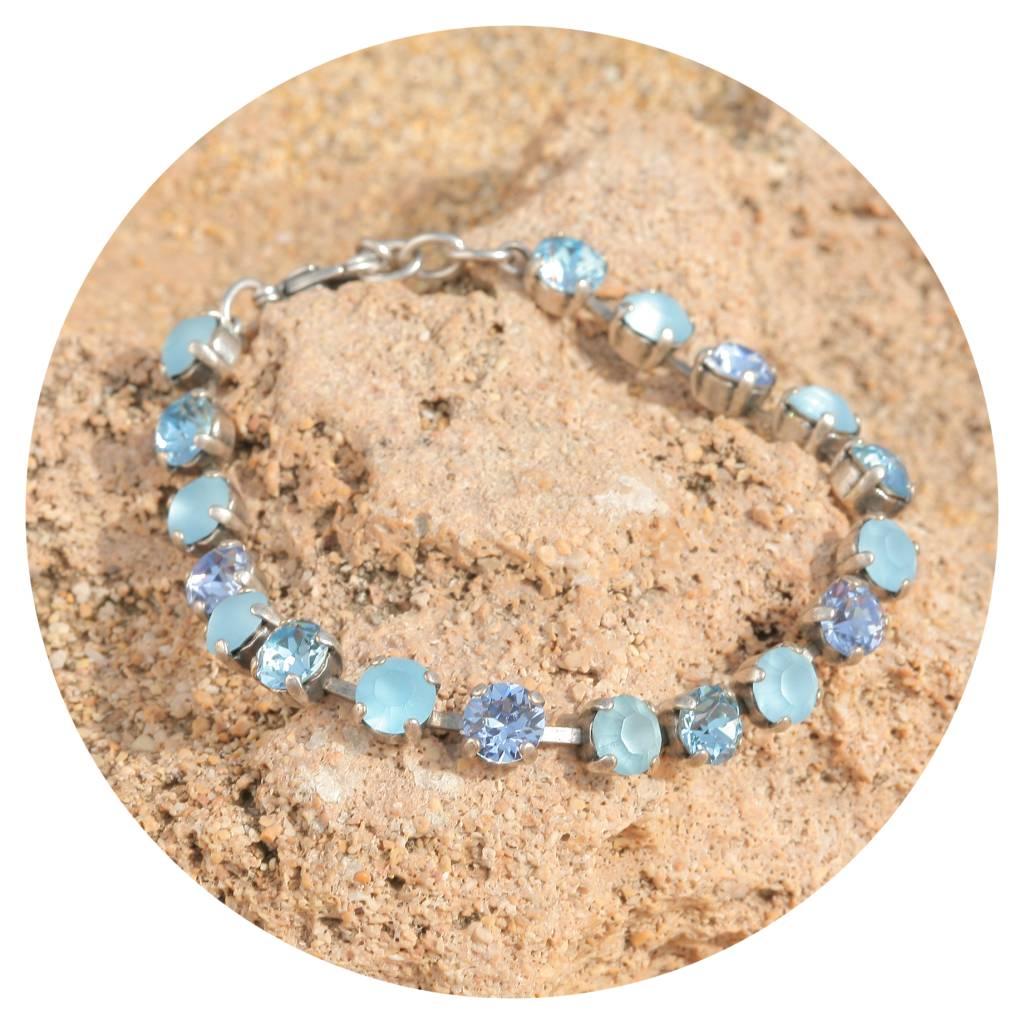 artjany Armband mit crystals in aqua matt mix