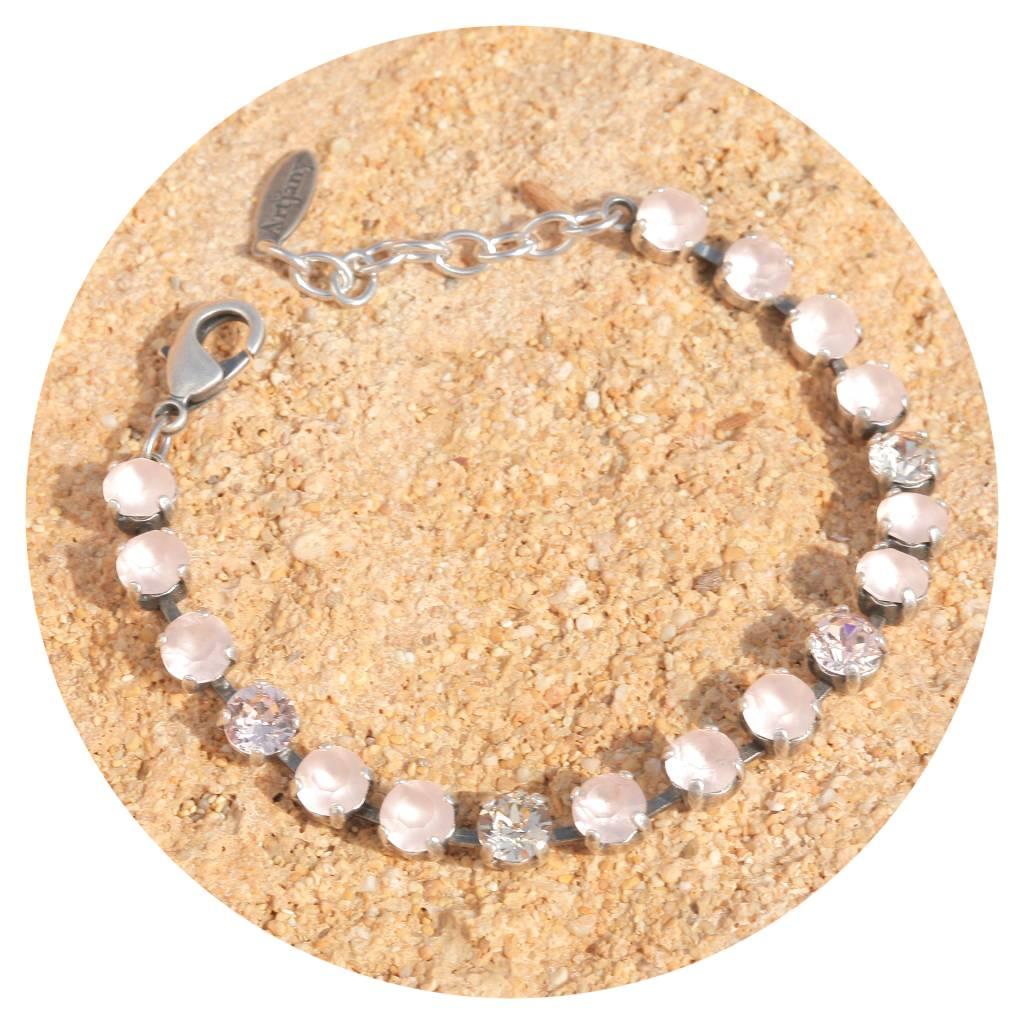artjany Armband mit crystals in vintage rose matt mix