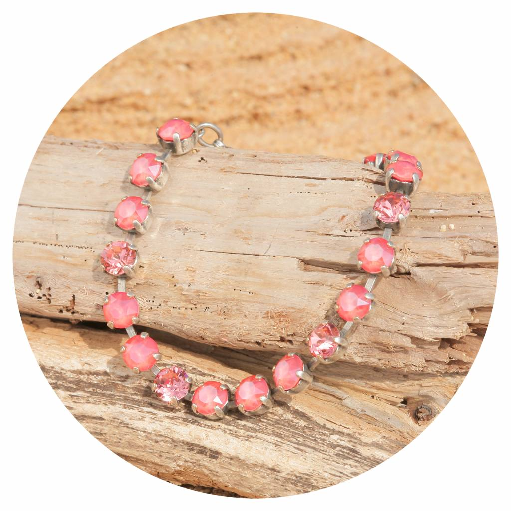 artjany Armband mit crystals in light coral mix