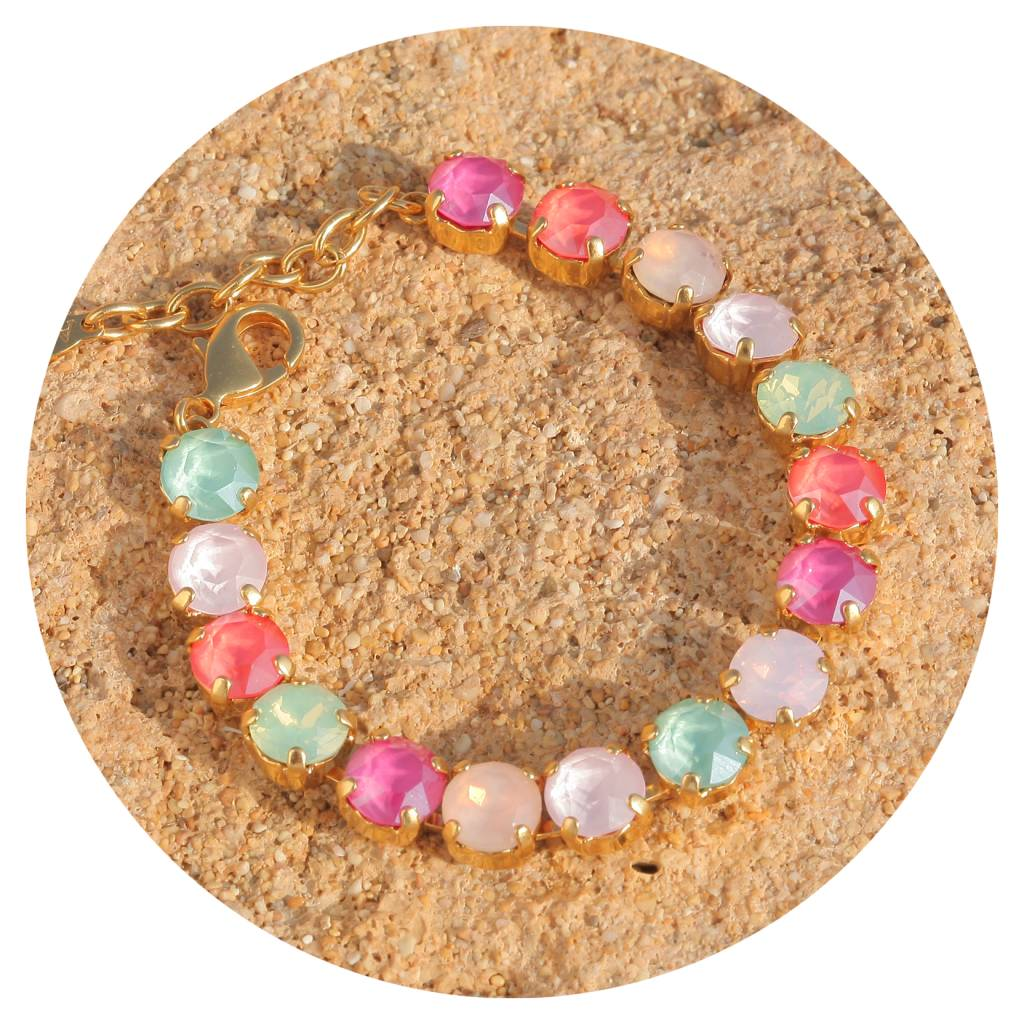 artjany Armband mit crystals in puder bunt mix