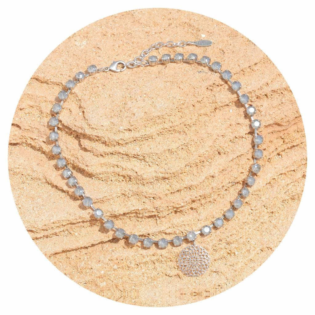 artjany Mandala Collier mit crystals in royal grey