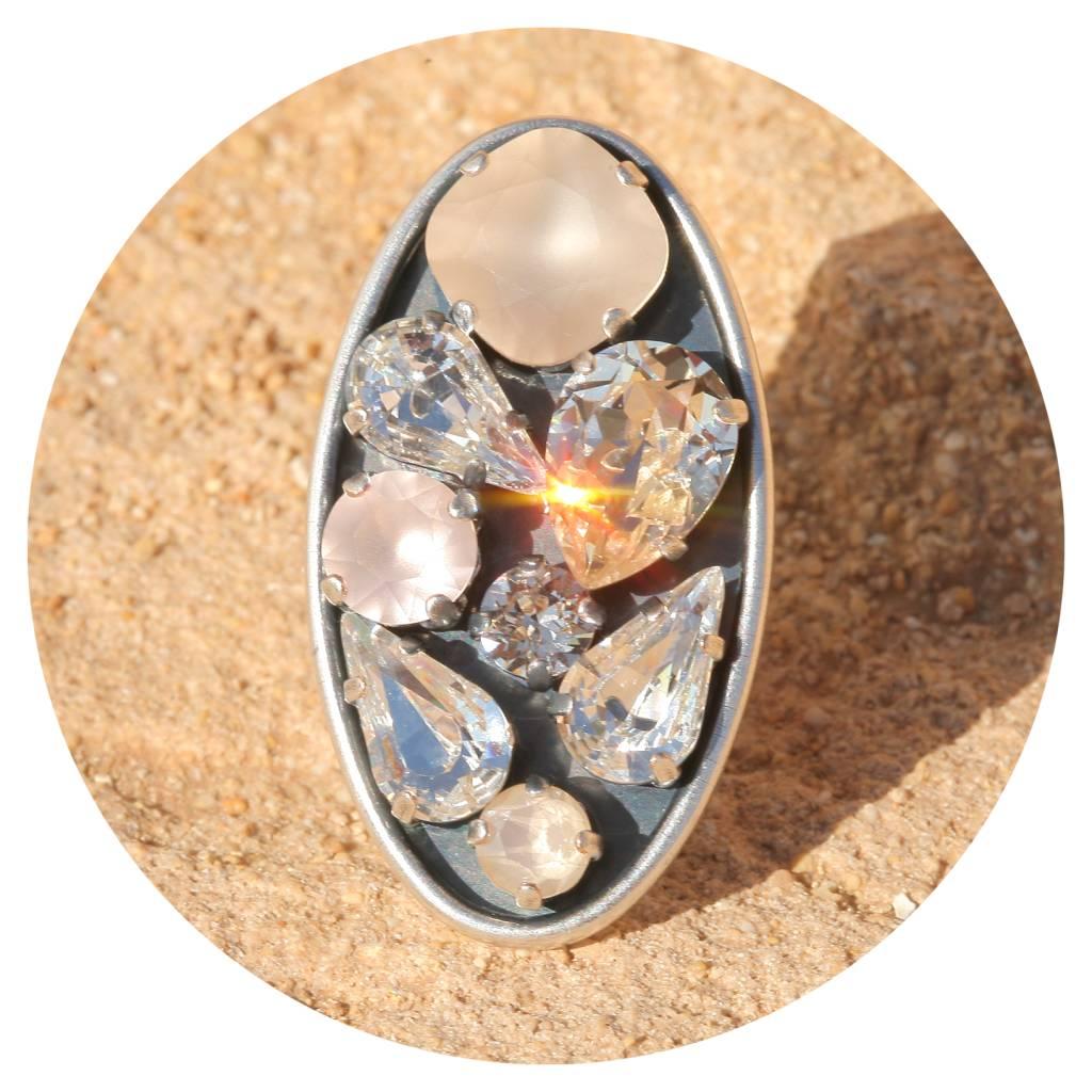 artjany Ring mit crystals in silk & ivory