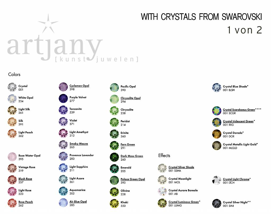 artjany Ring mit einem crystal from Swarovski in mint green