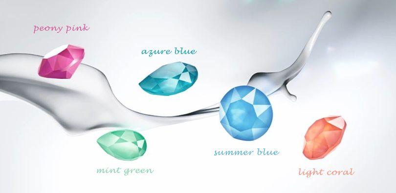 artjany Ohrhänger mit Kristallen in mint green