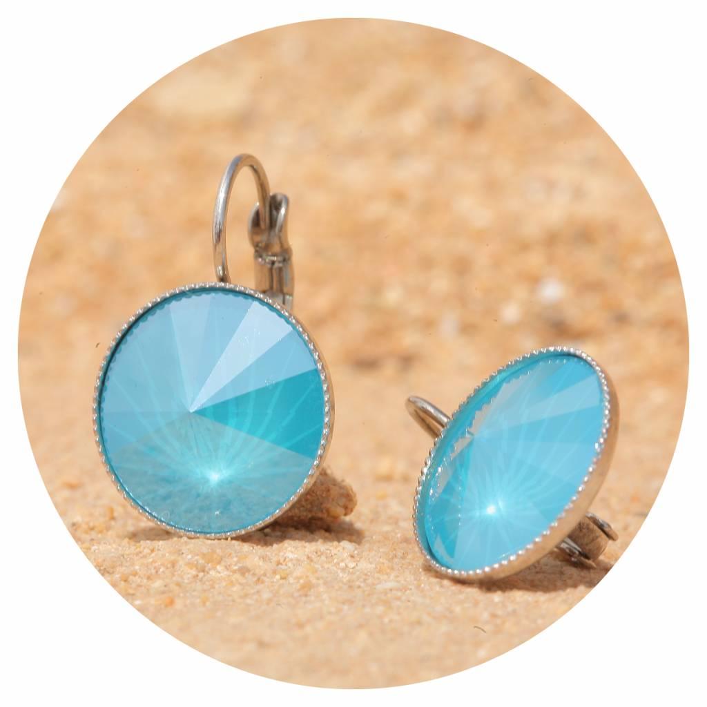 artjany Ohrhänger mit Kristallen in summer blue