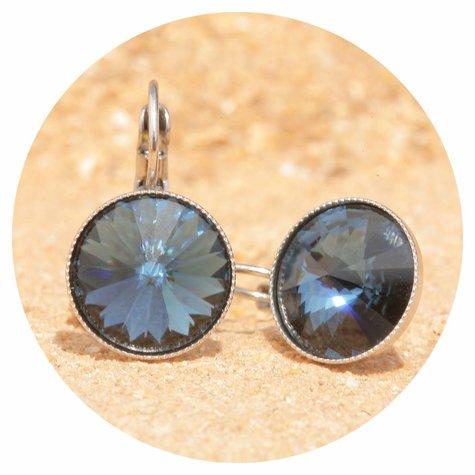 artjany Ohrhänger mit Kristallen in montana blau