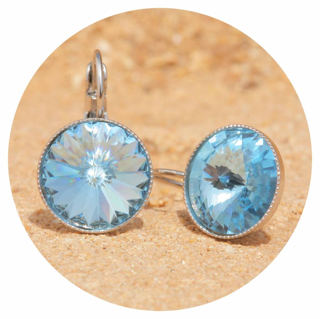 artjany Ohrhänger mit Kristallen in aquamarine
