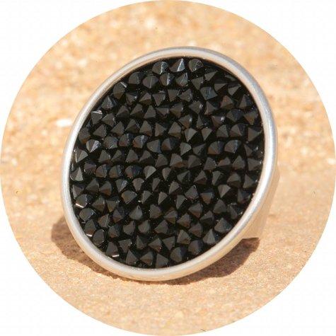 artjany Ring mit crystals rocks in jet