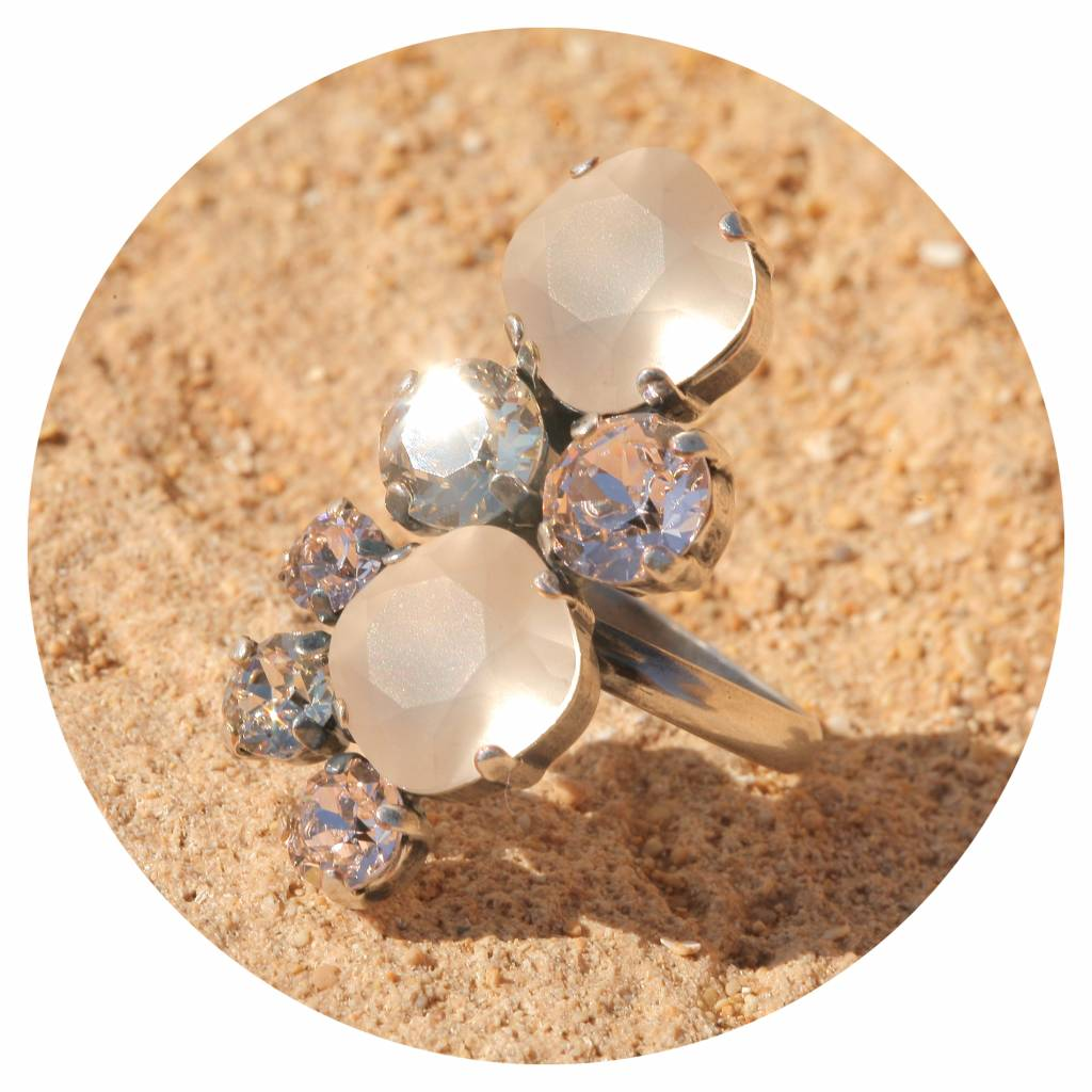 artjany Ring mit Kristallen in silk tönen