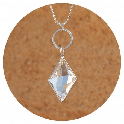artjany Kette mit einem geschliffenen Kristall in crystal