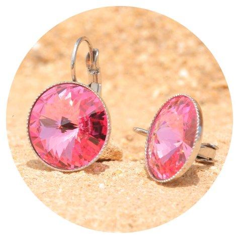 artjany Ohrhänger mit Kristallen in rose