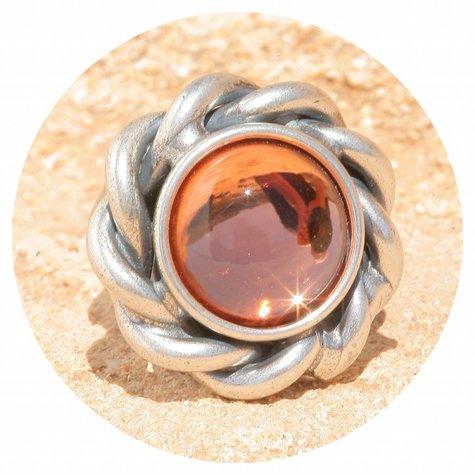 artjany Ring mit einem Cabochon in rose peach