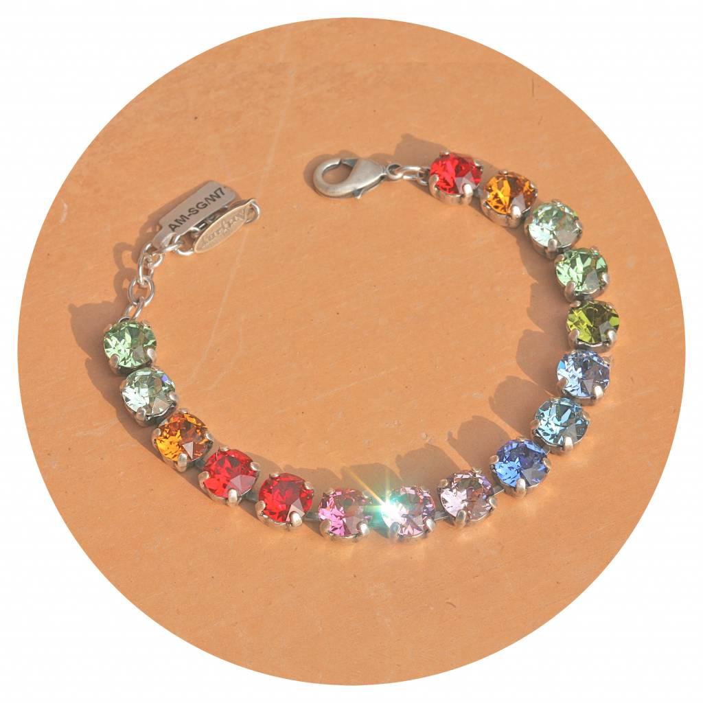 artjany Armband mit Kristallen im Regenbogen mix