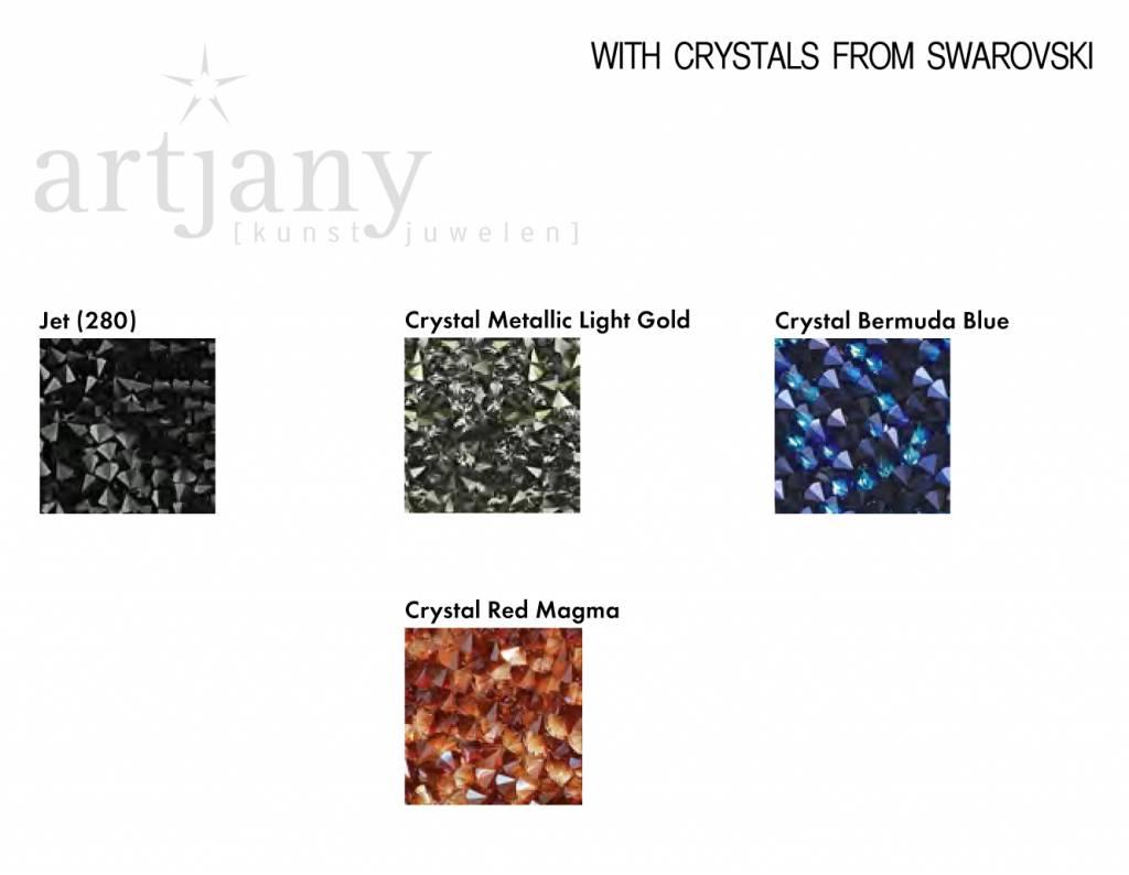 ovale crystal rocks from Swarovski