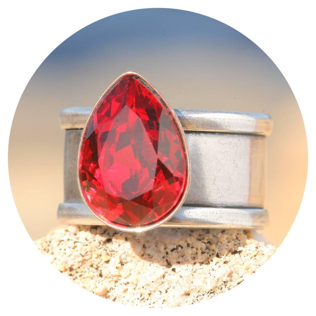 artjany Ring Tropfen in scarlet
