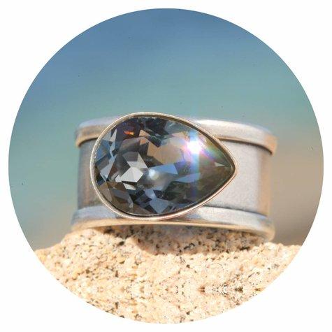 artjany Ring Tropfen in silver night