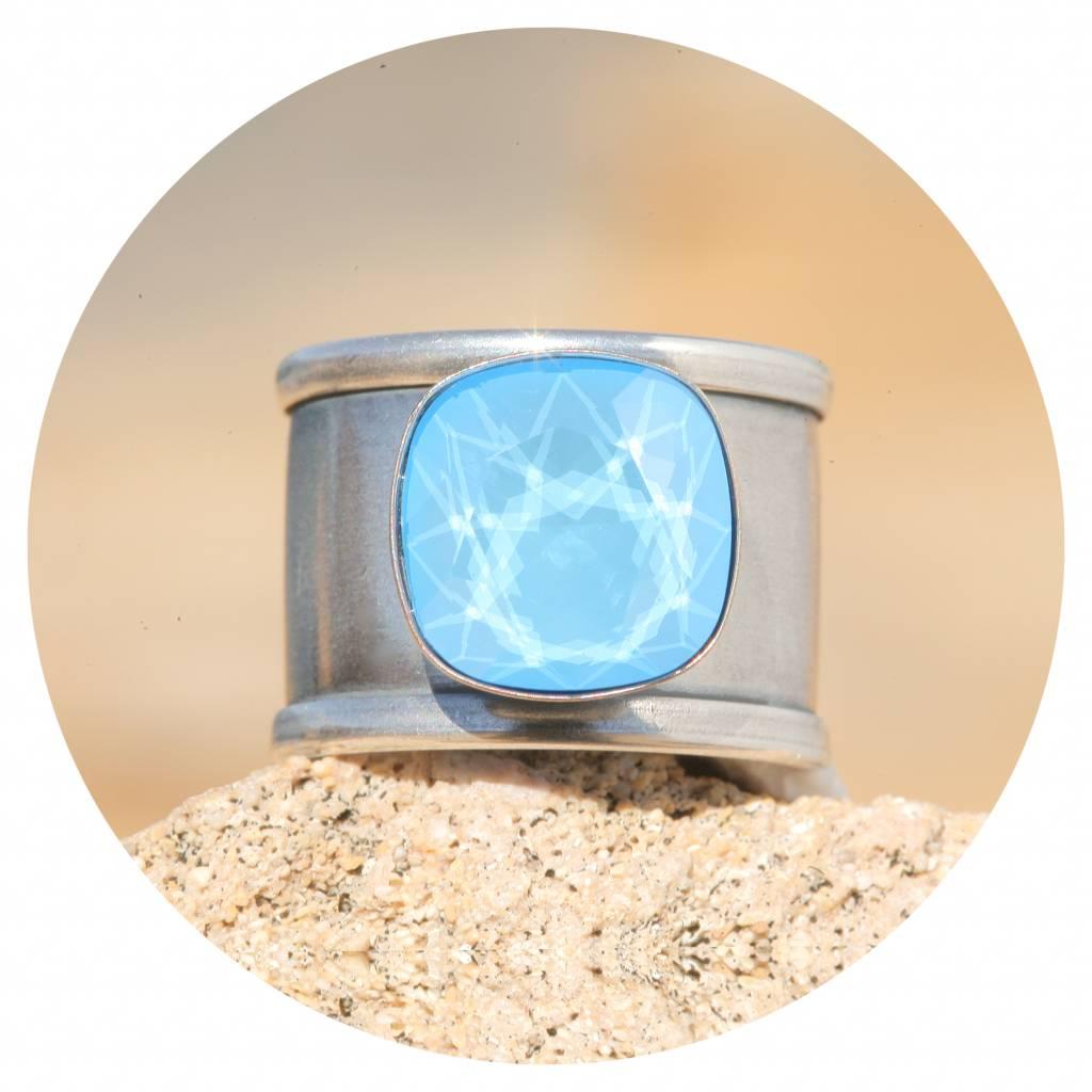 artjany Ring Quadrat in summer blue