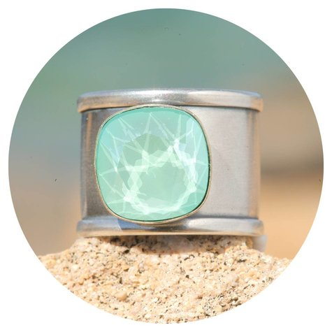 artjany Ring Quadrat in mint green