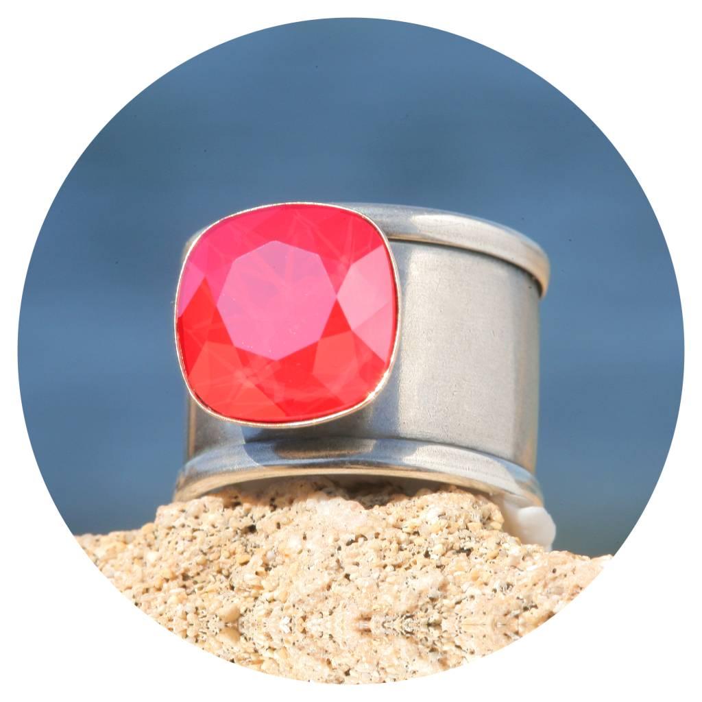 artjany Ring Quadrat in light coral