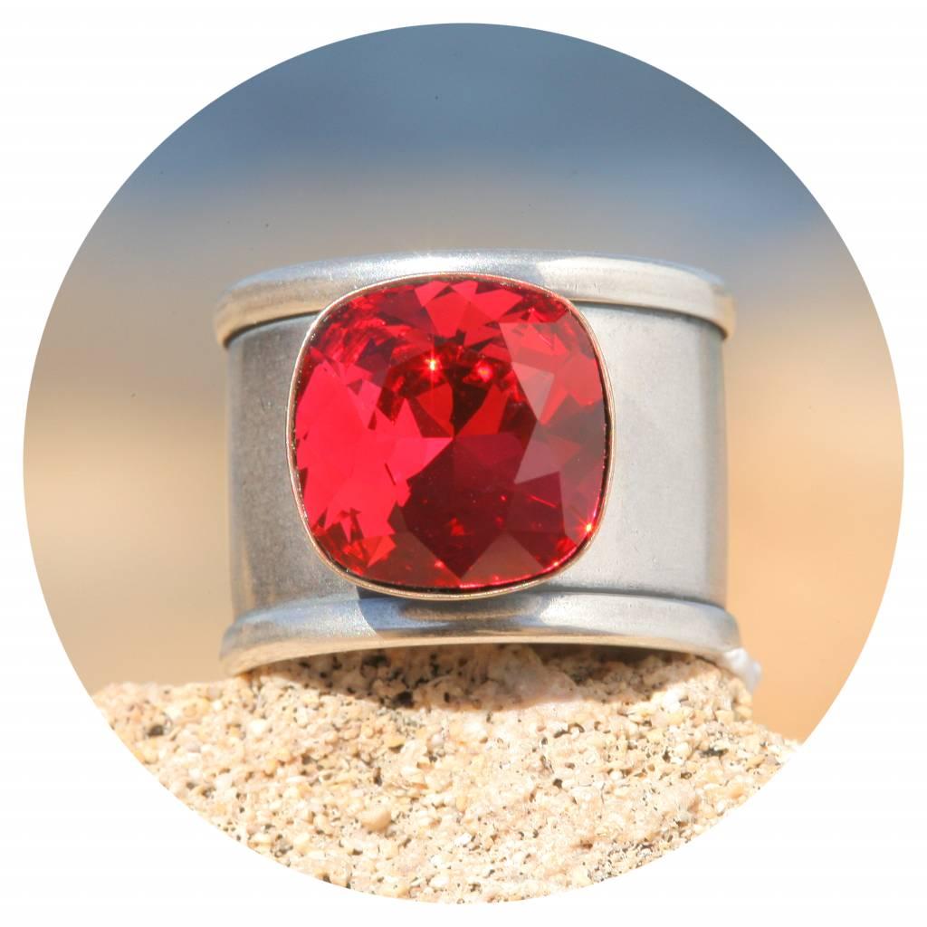 artjany Ring Quadrat in scarlet rot