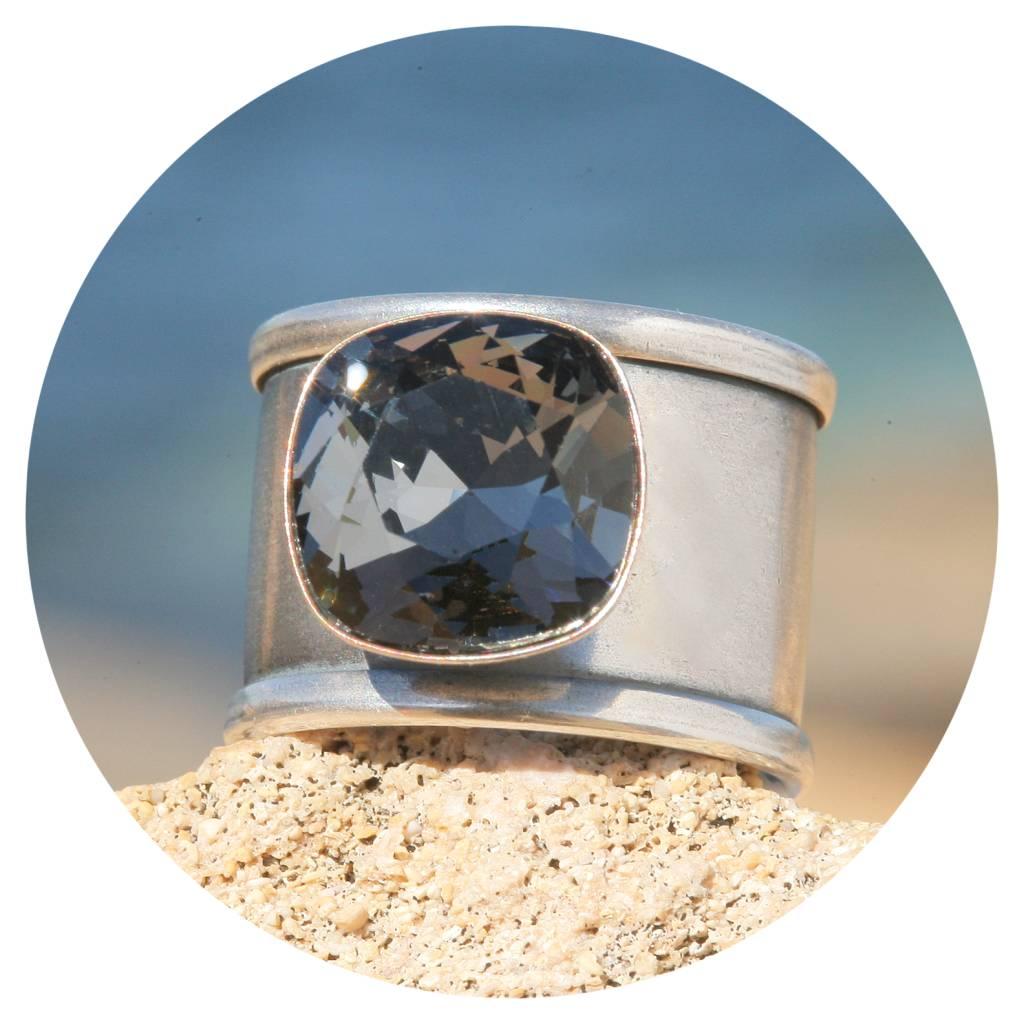 artjany Ring Quadrat in silver night
