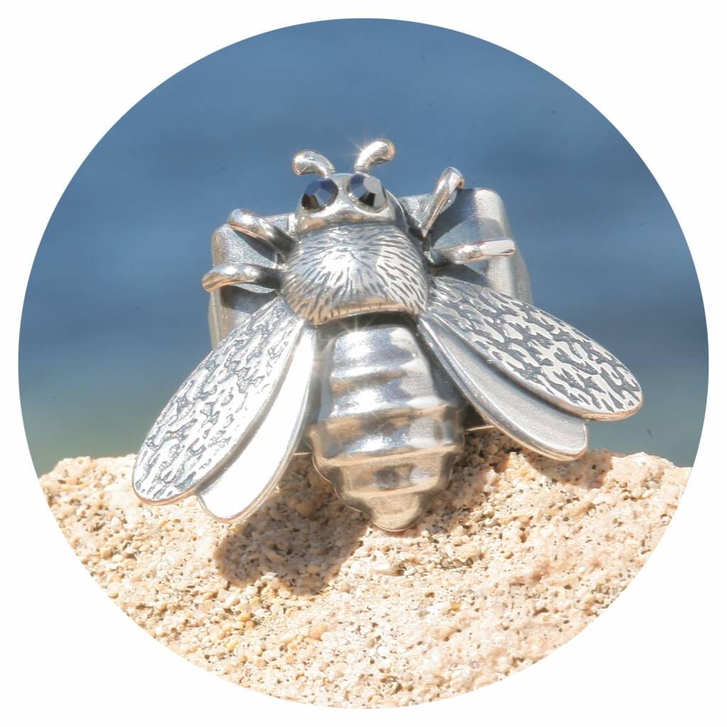 artjany Ring Biene mit jet Kristallen