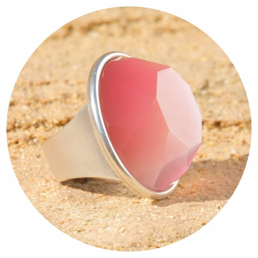 artjany xxl Ring mit einem Kristall seidenrosé