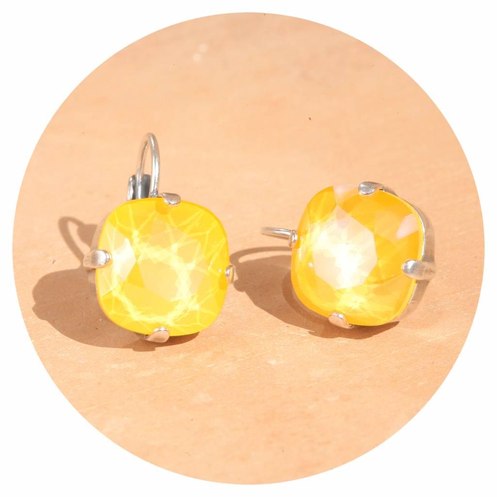 artjany Ohrhänger mit crystals in buttercup gelb