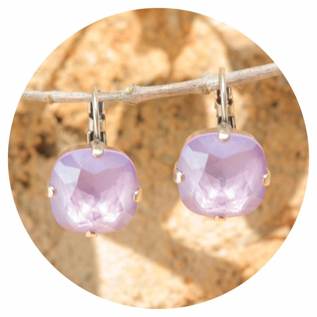 artjany Ohrhänger mit crystals in crystal lilac