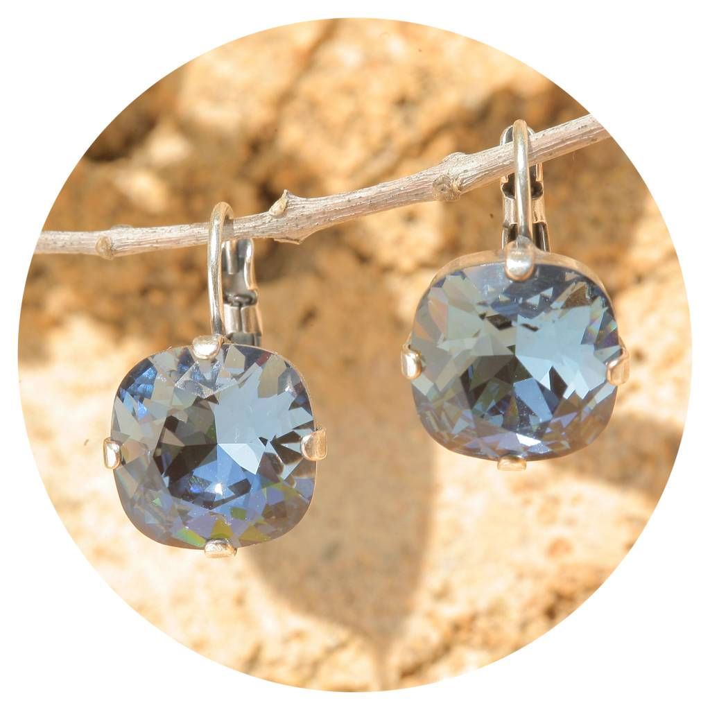 artjany Ohrhänger mit Kristallen in denim blue