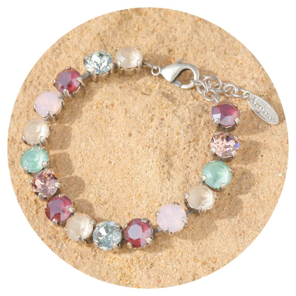 artjany Armband mit Kristallen in royalen Pastellfarben