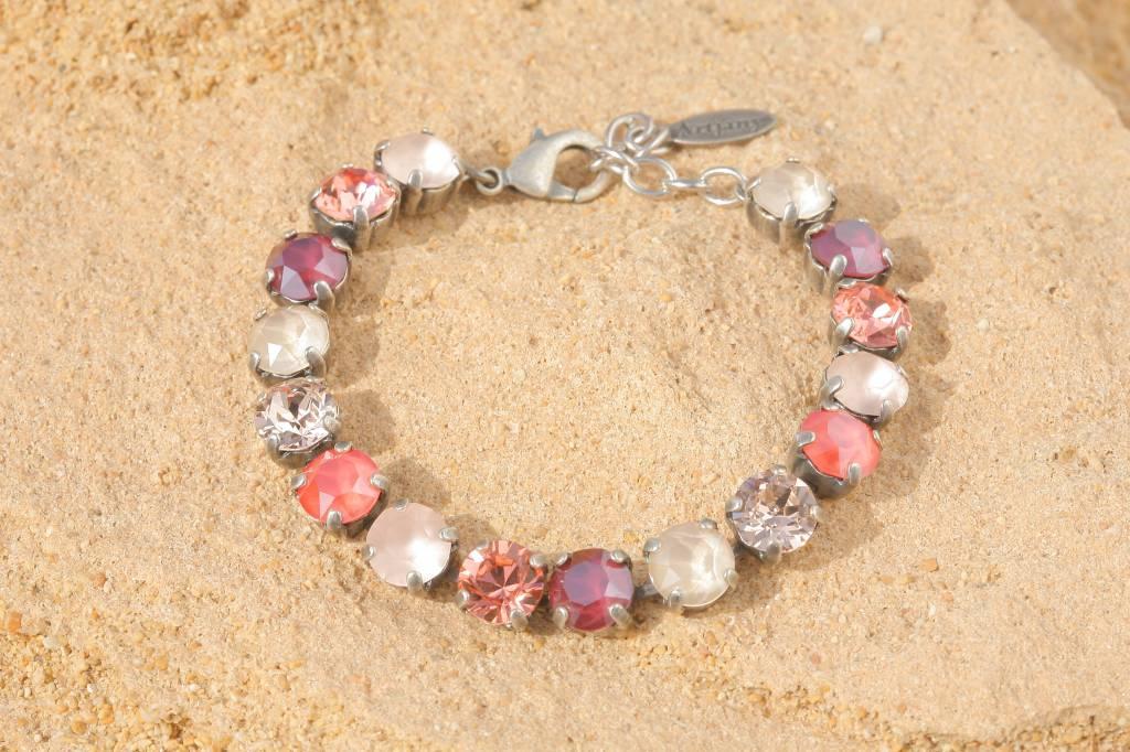 artjany Armband mit Kristallen in light coral pastel mix