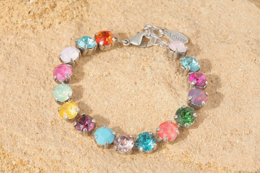 artjany Armband mit Kristallen im summer mix
