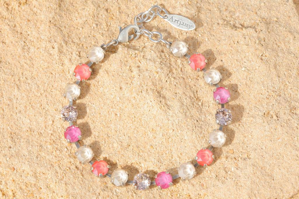 artjany Armband mit Kristallen in light coral peony mix