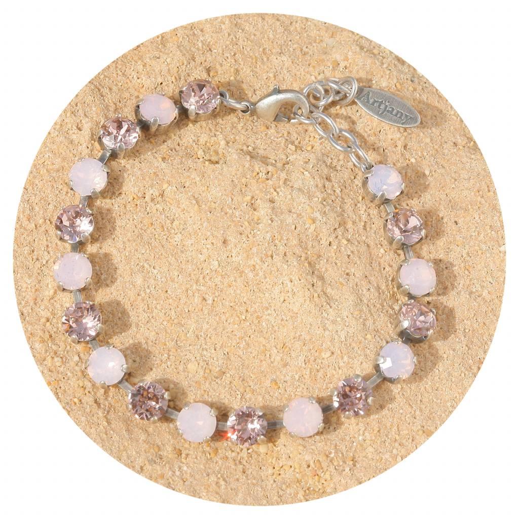 artjany Armband mit Kristallen in lose water opal & light rose