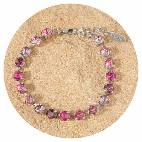 artjany Armband mit Kristallen im Pink Farbverlauf